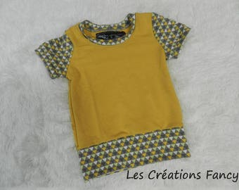 Scalable sweater yellow and gray 12M - 3T