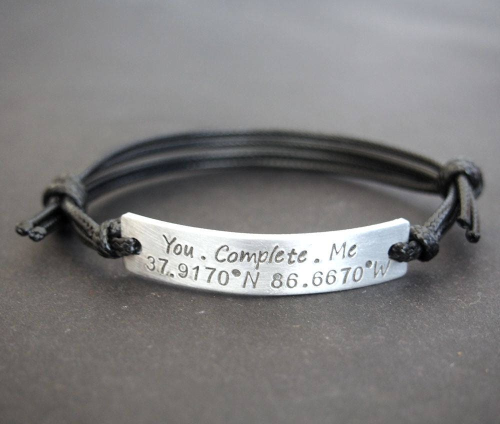 sterling products with cuff bracelet latitude longitude fullxfull il coordinates personalized silver