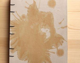 Coffee book, Coptic binding, hand-made