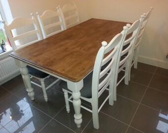 Stunning Bespoke 6ft x 3ft Shabby Chic Table Set