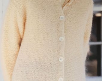 PDF Knit Garter-Stitch Cardigan (EASY)
