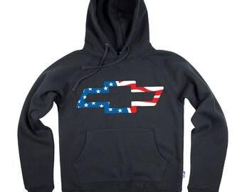 Bowtie USA Flag Colors Hoodie/Hoody