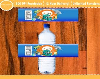 Octonaut Water Bottle Labels, Octonauts Printable Bottle Labels
