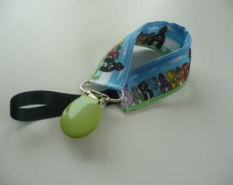 Pacifier / Binky, Ribbon candy multicolor, green round pliers