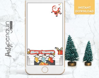 INSTANT DOWNLOAD SNAPCHAT Filter | Merry Christmas Fireplace | Kid Christmas Party Filter | Party Geofilter | Merry Christmas Geofilter