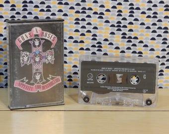 Guns N' Roses - Appetite For Destruction - Cassette tape - GNR - Guns and Roses