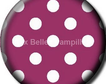 """Round cabochon resin 25 mm - """"spotted"""" stick (1050) - gift, gift."""