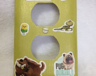 Switch plate outlet cover The Secret Life of Pets