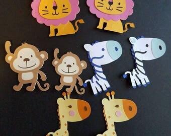 Set of Jungle Animal Die Cuts
