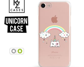 Unicorn Phone Case, iPhone 7 Case, Gift for Her, Gift For Mom, Cute Unicorn Case, Unicorn iphone case, iphone 6, iPhone 7 Plus, iPhone 6S