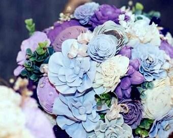 Wedding Bouquet,Bridal Bouquet,Succulent Bridal Bouquet,Roses Bouquet,Handmade Bridal Bouquet,Sola Flowers,Keepsake bouquet,Something blue