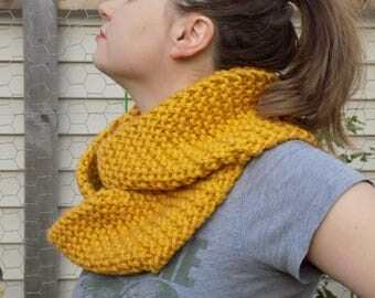 SUPER Chunky Bulky Gold Infinity Scarf
