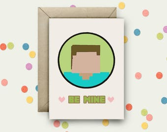 Be Mine Pop Art A6 Blank Greeting Card & Envelope
