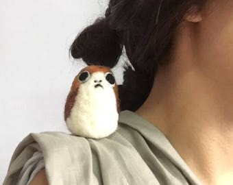 Felted Mini Porg
