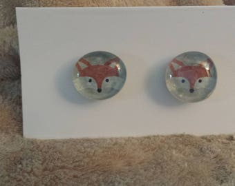 Foxes Glass Gem Magnets