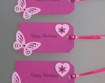 3 Large Handmade Gift Tags Mothers Day/Birthday/Anniversary/Easter