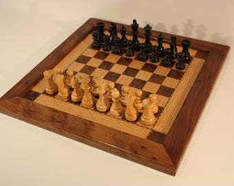 Handmade chess board/PRICE REDUCED FROM 165 to clear
