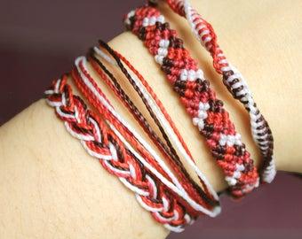 Mangosteen Casual Combo bracelets, Guatemalan Bracelets, Handmade bracelets, colorful bracelets, fruit based, weave, friendship bracelets.