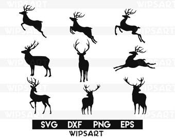 SALE! Reindeer svg, reindeer svg file, deer svg file, deer cut files, deer silhouette, reindeer cut files, deer cricut, deer clipart, dxf