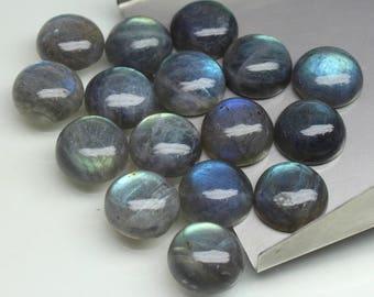 5 PCs Natural Labradorite Cabochon size- 13x13x6 MM Approx Labradorite loose semi- precious gemstones