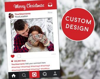 Christmas Photobooth, Christmas Props, Christmas Instagram Frame, Selfie Frame, Instagram Frame, Christmas, Photobooth Prop, Christmas Ideas