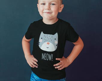 Kitty Tshirt Kids Toddler shirt Graphic tee kitty cat Kids clothes infant shirt cat shirt-Girls clothes cute graphic tshirt meow clothes
