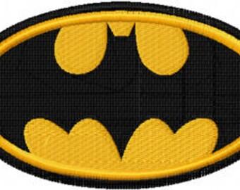 Batman logo machine embroidery design