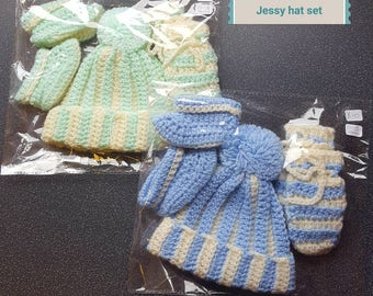 Handmade crochet hat sets