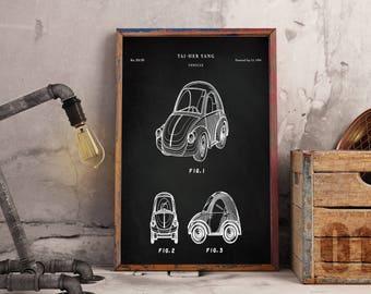 VW Beetle - VW Bug - Volkswagen Poster - Volkswagen Art - Volkswagen Beetle Poster - Volkswagen Beetle Patent- Instant Digital download