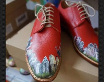 Handmade And Painted oxfords