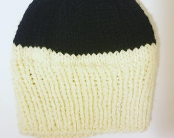 Duo Knit Hat  // Chunky Knit