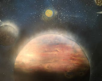 Planet Spray Paint Art
