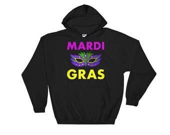 mardi gras hoodie - mardi gras shirt - mardi gras mask - mardi gras t shirt - mardi gras costume - mardi gras apparel - mardi gras women