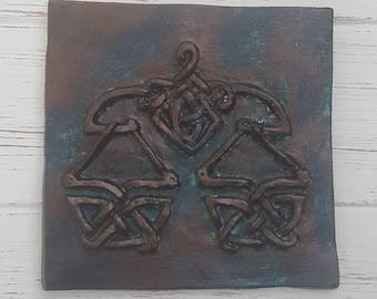 Libra, Zodiac tile, Astrology tile, Astrological signs, equality, Astrological signs, Horoscope, unique, Celtic knot, gift, ceramic plaque