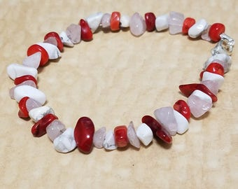 Red, Pink, and White Bracelet