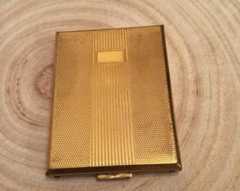 Kigu of London small vintage gold tone  cigarette case