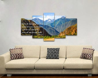 Proverbs 3:5-6 #21 NIV Trust in the Lord Bible Verse Canvas | Christian Canvas | Scripture | Religious | Wall Art | Home Decor Paintings