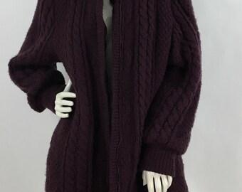 Vintage sweater jacket/80s sweater jacket/1980s sweater