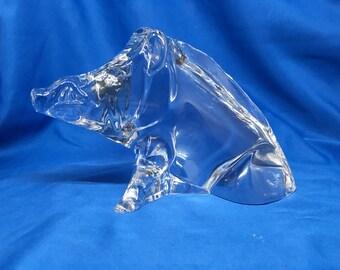 Baccarat Art Glass Paperweight Warthog