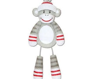 Stuffed Monkey Personalized Christmas Ornaments