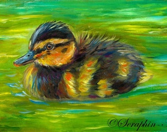 Duckling Original Acrylic Painting