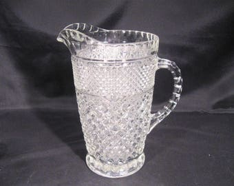 Wexford Beverage Pitcher by Anchor Hocking Clear Glass Large 64 Oz