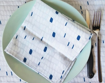 Set 2 napkins Seeds II blue