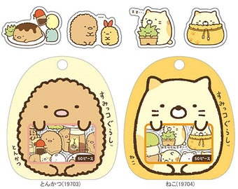 4 pockets of 50 Stickers KAWAII clear * made in Japan * Sumikko Gurashi