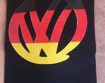 Men's/Women's VW logo with German Flag t shirt