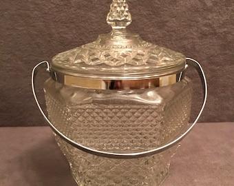 Anchor Hocking Wexford Pattern Glass Ice Bucket