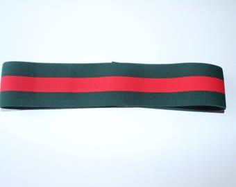 gucci inspired. men\u0027s fashion inspired gucci headband designer plain green \u0026 red strap