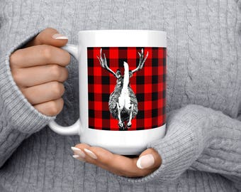 15oz Coffee Mug,Deer, Large Coffee Cup,Office Gift, Xmas Gift, Hot drinks & laughs keep you warm this winter.Great Xmas Gift or Office Fun.