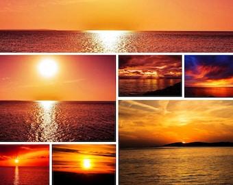 Gorgeous collection of 30 Sunrise skies | Sky overlays Sunset Overlays | Overlays for photoshop |  Photo overlays | Photoshop overlay