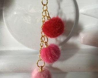 Earring 3 fur ball